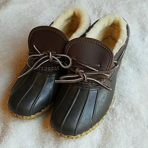 LL Bean Sherling Lined Bean Boots